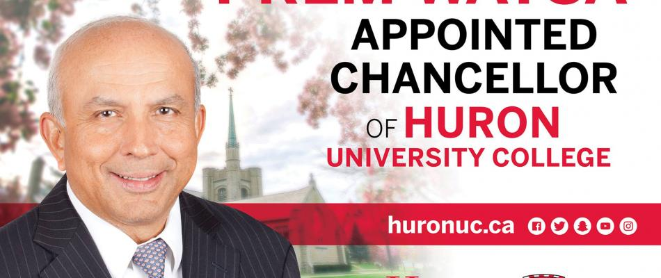 Prem Watsa appointed first-ever Chancellor of Huron